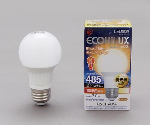 [取扱停止]LED電球 広配光/調光 電球色 485lm LDA7L-G/D-V1 242787/LDA7L-G/D-V1