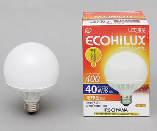 [取扱停止]LEDボール球 40W 電球色 400lm LDG7L-G-V2 566435/LDG7L-G-V2