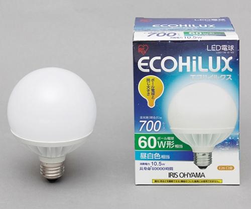 [取扱停止]LEDボール球 60W 昼白色 700lm LDG11N-G-V2 566438/LDG11N-G-V2