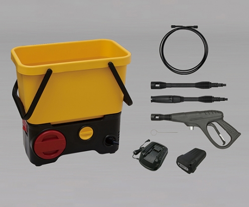 [取扱停止]タンク式高圧洗浄機充電タイプ SDT-L01 イエロー/ブラック 520200/SDT-L01