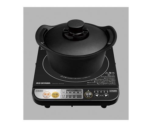 [取扱停止]旨み炊飯鍋18cmIH付 H-DRC-18 黒 527346/H-DRC-18