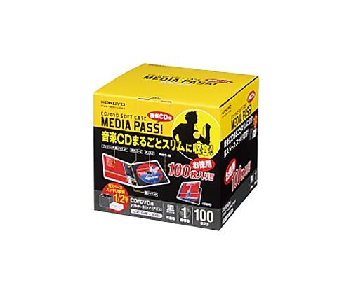 [取扱停止]CD/DVDソフトケース 100枚 黒 EDC-CME1-100D