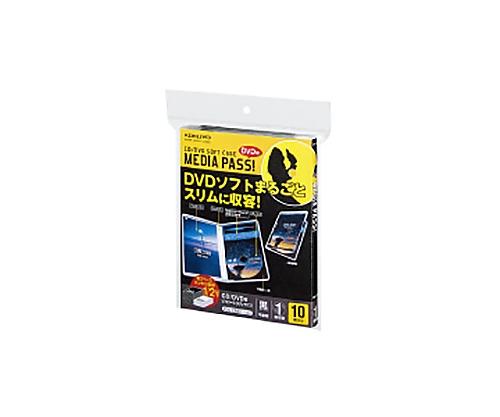 [取扱停止]CD/DVDソフトケーストールサイズ 10枚 黒 EDC-DME1-10D