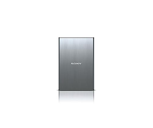 [取扱停止]ポータブルハードディスク 500GB、シルバー HD-SG5S