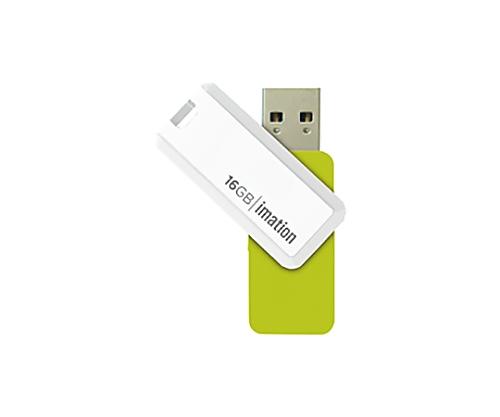 [取扱停止]回転式USBメモリ NANO-S 16GB、グリーン UFDNSE16GGR