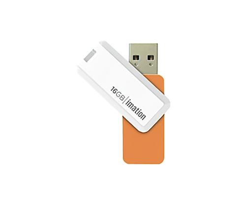 [取扱停止]回転式USBメモリ NANO-S 16GB、オレンジ UFDNSE16GOR