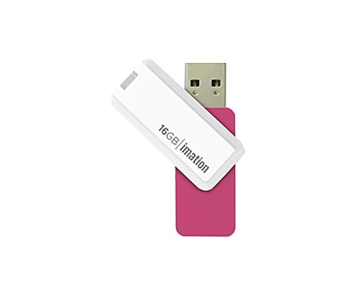 [取扱停止]回転式USBメモリ NANO-S 16GB、ピンク UFDNSE16GPK