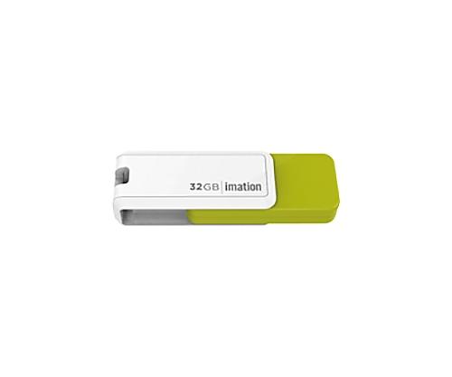 [取扱停止]回転式USBメモリ NANO-S 32GB、グリーン UFDNSE32GGR