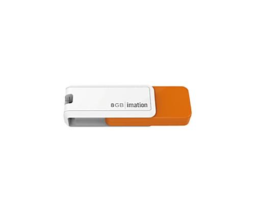 [取扱停止]回転式USBメモリ NANO-S 8GB、オレンジ UFDNSE8GOR