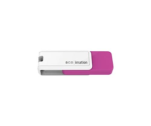 [取扱停止]回転式USBメモリ NANO-S 8GB、ピンク UFDNSE8GPK