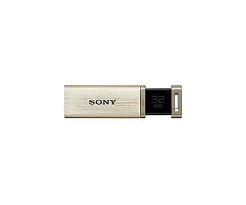 USBメモリー 超高速モデル 32GB ゴールド USM32GQX-N