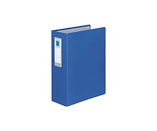 チューブファイル<ロングボディ>(4穴) A4縦 80ミリとじ 4穴 青 フ-L684NB