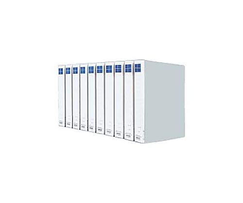 [取扱停止]チューブファイル(10冊パック) A4縦 30ミリとじ 2穴 シルバー VDフ-E8630CX10