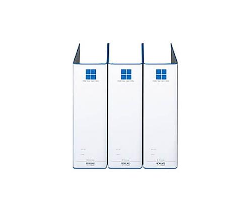 [取扱停止]チューブファイル(3冊パック) A4縦 80ミリとじ 2穴 青 VDフ-E8680BX3