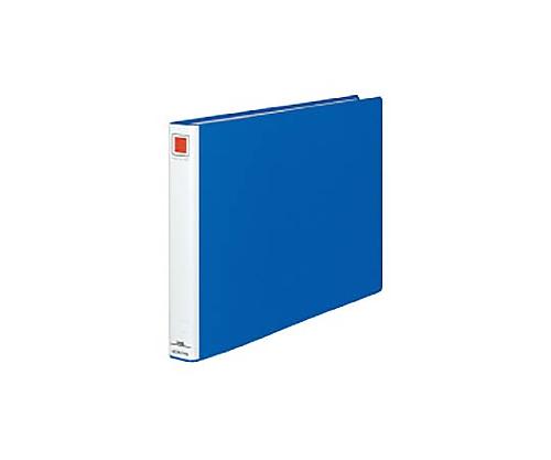 チューブファイル<エコ> A3横 30ミリとじ 2穴 青 フ-E633B
