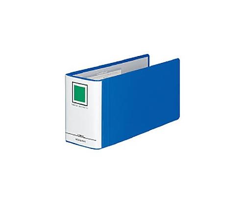 チューブファイル<エコツインR>(E型) B4 1/3横 80ミリとじ 2穴 青 フ-RT6819B