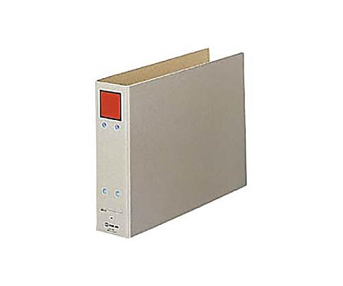 保存ファイル A4横 2穴50ミリとじ スクエア色:赤 4385