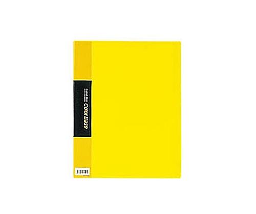 クリアーファイルカラーベース A4縦 固定式20枚ポケット 黄 132Cキイ