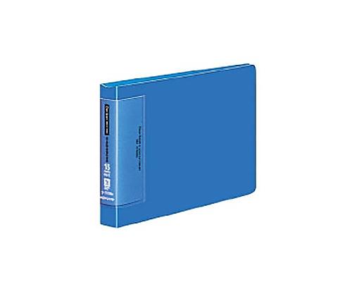 クリヤーブック(ウェーブカットポケット) B6横 替紙式15枚ポケット13穴 青 ラ-T728B