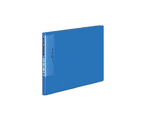 [取扱停止]クリヤーブック(ウェーブカットポケット) A4横 固定式20枚ポケット 青 ラ-T565B