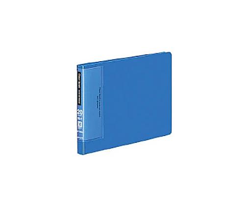 クリヤーブック(ウェーブカットポケット) B6横 固定式20枚ポケット 青 ラ-T568B