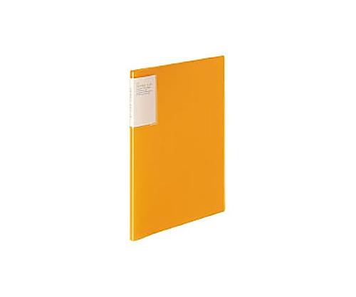 [取扱停止]クリヤーブック<キャリーオール> A4縦 固定式10枚ポケット オレンジ ラ-5002YR