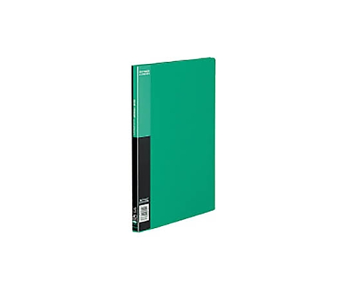 クリヤーブック<ベーシック>サイドスロー A4縦 固定式20枚ポケット 緑 ラ-B220G