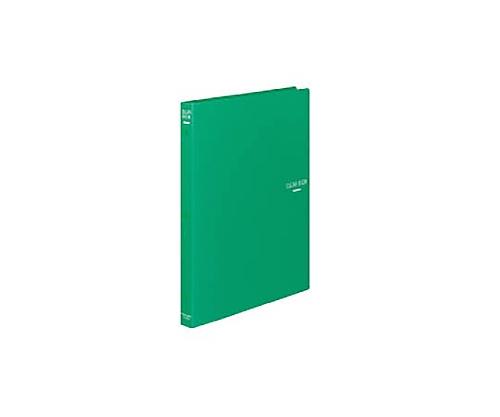 クリヤーブック A4縦 替紙式18枚ポケット30穴 緑 ラ-320G