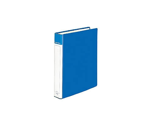 [取扱停止]クリヤーブック(チューブファイルタイプ) A4縦 替紙式20枚ポケット 2穴 青 ラ-E630B