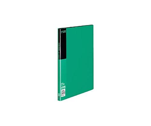 クリヤーブック A4縦 固定式20枚ポケット 緑 ラ-B20G