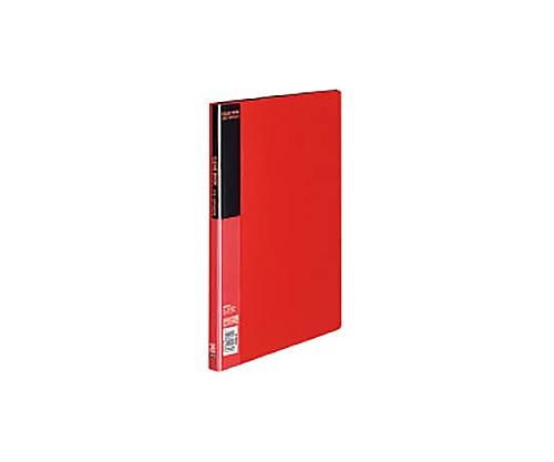 クリヤーブック A4縦 固定式20枚ポケット 赤 ラ-B20R
