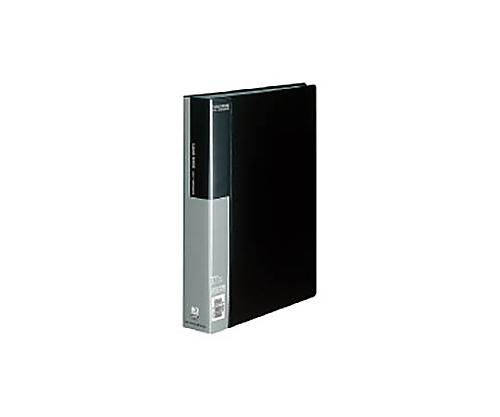 クリヤーブック A4縦 固定式80枚ポケット 黒 ラ-B80D