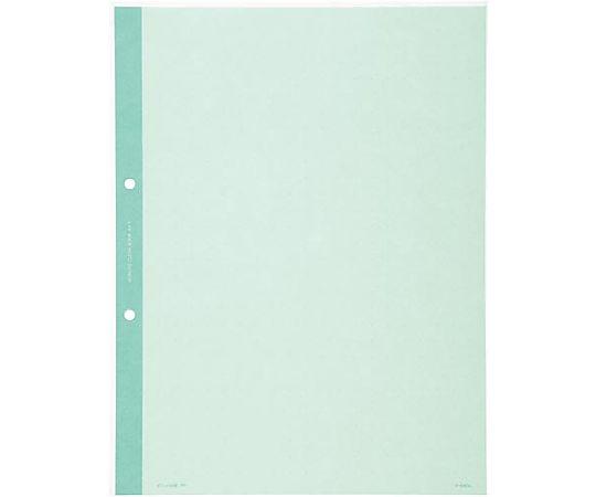 クリヤーブック替紙(2穴とじ) A4縦 2穴 台紙色緑 10枚入 ラ-690G