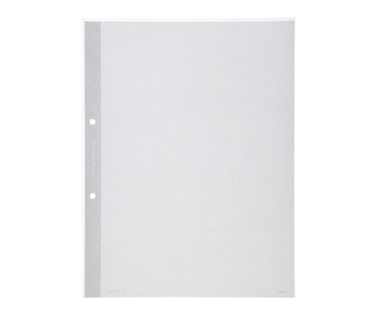クリヤーブック替紙(2穴とじ) A4縦 2穴 台紙色灰 10枚入 ラ-690M
