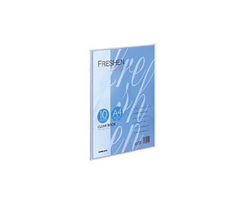 クリヤーブック<フレッシェン> A4縦 固定式10枚ポケット 青 ラ-S20B