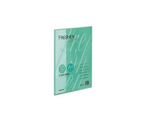クリヤーブック<フレッシェン> A4縦 固定式10枚ポケット 緑 ラ-S20G