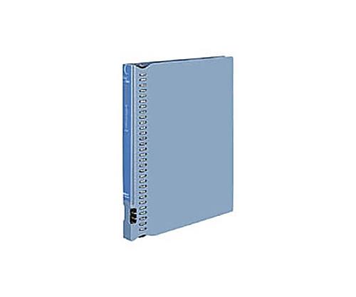 [取扱停止]名刺ホルダー<クールフェイス>(替紙式) A4縦 500名収容 30穴 青 メイ-NB355B
