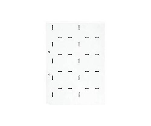 名刺ホルダーS型替紙 A4縦 2穴 20ポケット 10枚入 89D