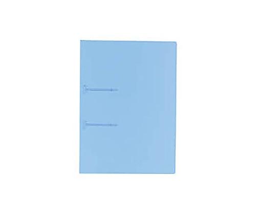 ファスナーファイル<クリヤーカラー> A4縦 2穴 9ミリとじ 青 フ-P170B