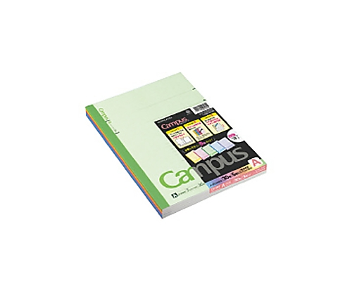 キャンパスノートカラー表紙(普通横罫) 6号(セミB5) 罫幅7mm30枚5冊組 ノ-3CANX5