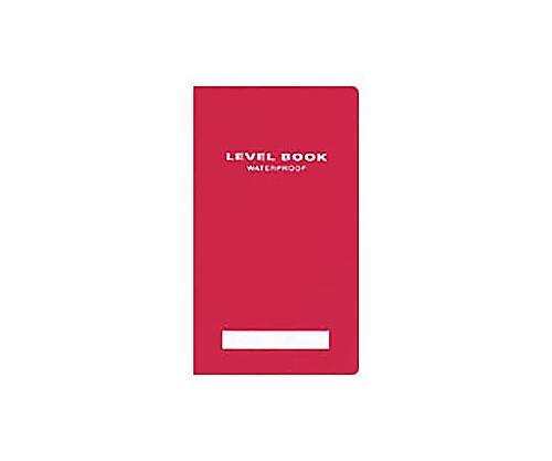 測量野帳<ブライトカラー> (耐水・PP表紙) レベル 30枚 赤