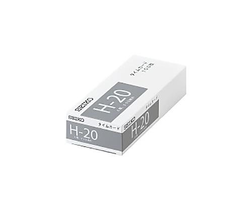 セイコー用タイムカード H-20 20日締 片面 6欄 H-20カ-ド
