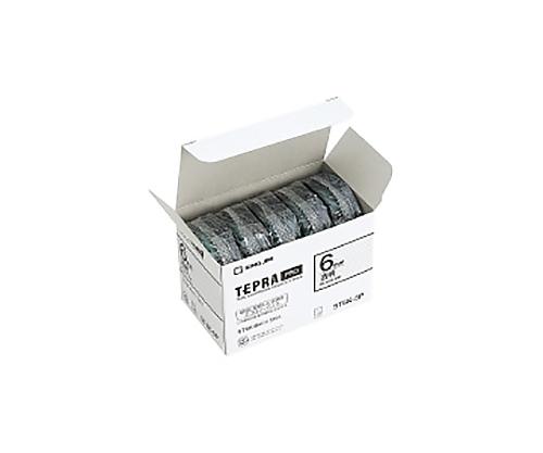 テプラPROテ-プ エコパック 5個入り 透明黒文字 6mm ST6K-5P