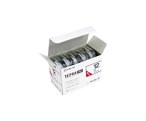 テプラPROテ-プ エコパック ロング 5個入り 白に黒文字 12mm SS12KL-5P