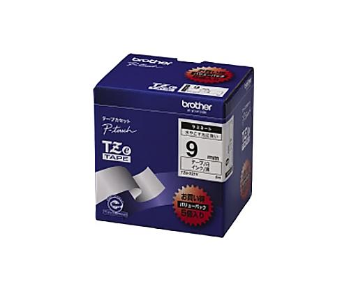 ピータッチ用TZeテープカセット 白に黒文字9ミリ幅 5本パック TZE-221V
