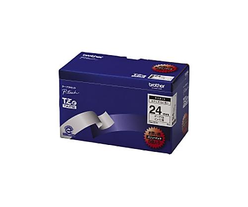 ピータッチ用TZeテープカセット 白に黒文字24ミリ幅 5本パック TZE-251V