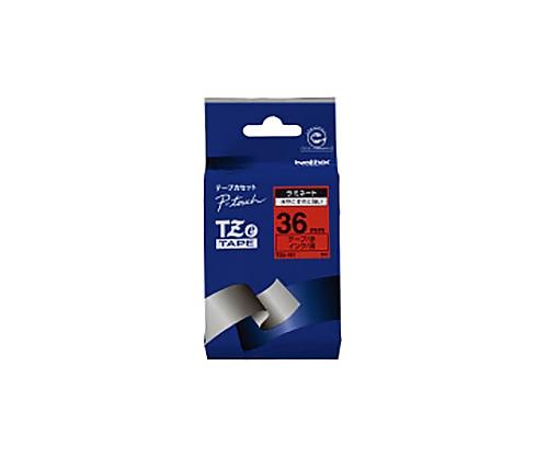 ピータッチ用TZeテープカセット 赤に黒文字 36ミリ幅 TZE-461