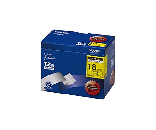 ピータッチ用TZeテープカセット 黄に黒文字 18ミリ幅 5本パック TZE-641V