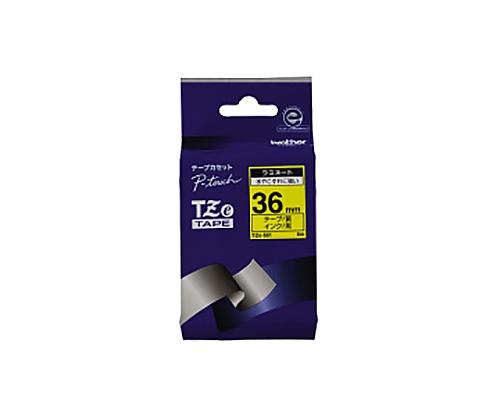ピータッチ用TZeテープカセット 黄に黒文字36ミリ幅 TZE-661