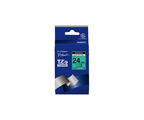 ピータッチ用TZeテープカセット 緑に黒文字 24ミリ幅 TZE-751
